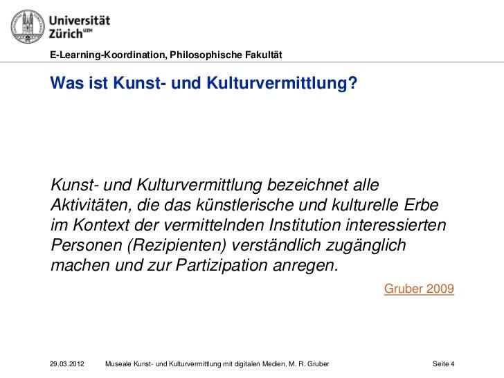 E-Learning-Koordination, Philosophische FakultätWas ist Kunst- und Kulturvermittlung?Kunst- und Kulturvermittlung bezeichn...