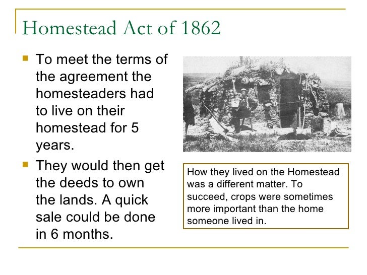 About the Homestead Act