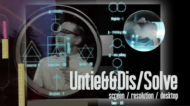 Untie&&Dis/Solvescreen / resolution / desktop