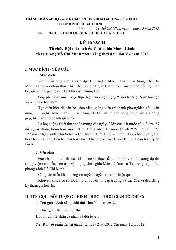 THÀNH ĐOÀN – ĐHQG – ĐUK CÁC TRƯỜNG ĐH-CĐ-TCCN – SỞ GD&ĐT                    THÀNH PHỐ HỒ CHÍ MINH                         ...