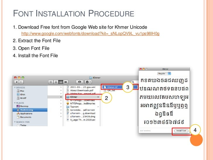 How To Download Font Khmer Unicode Download font Limon Khmer