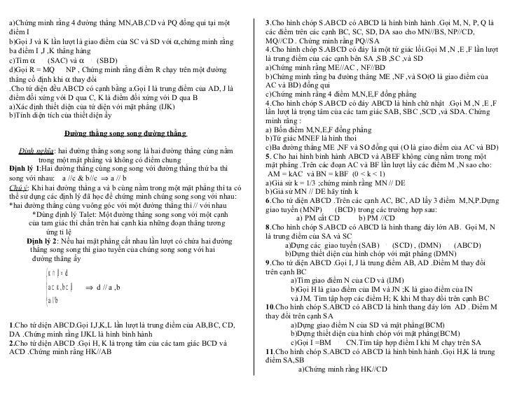 a)Chứng minh rằng 4 đường thẳng MN,AB,CD và PQ đồng qui tại một            3.Cho hình chóp S.ABCD có ABCD là hình bình hàn...