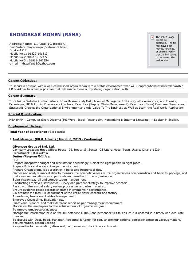 KHONDAKAR MOMEN (RANA) Address: House: 11, Road; 10, Block: A, East Vatara, Sayednagar, Vatara, Gulshan, Dhaka-1212. Mobil...
