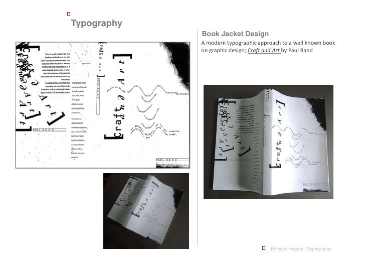 Typography              Book Jacket Design              A modern typographic approach to a well known book              on...