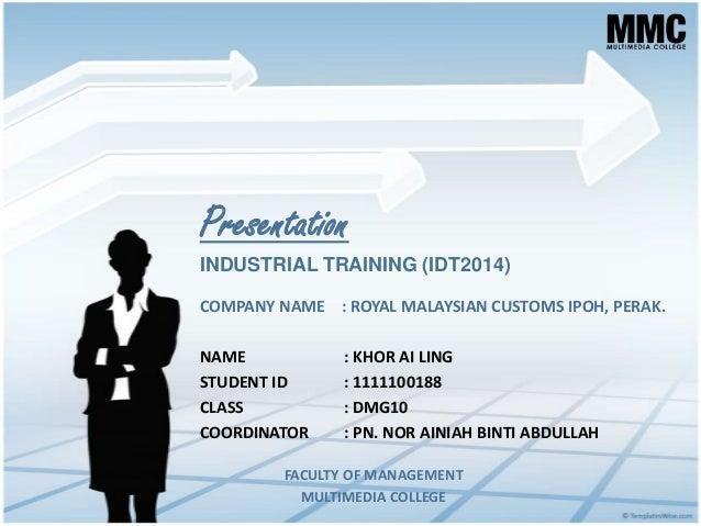 semester 7 industrial training final presentation