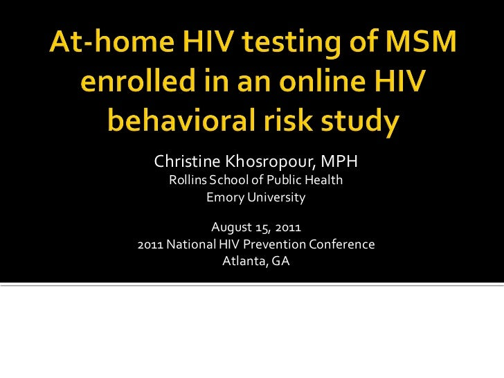 Christine Khosropour, MPH     Rollins School of Public Health            Emory University            August 15, 20112011 N...