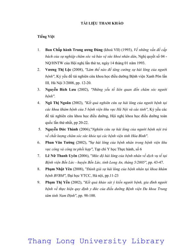 TÀI LIỆU THAM KHẢO Tiếng Việt 1. Ban Chấp hành Trung ương Đảng (khoá VII) (1993), Về những vấn đề cấp bách của sự nghiệp c...