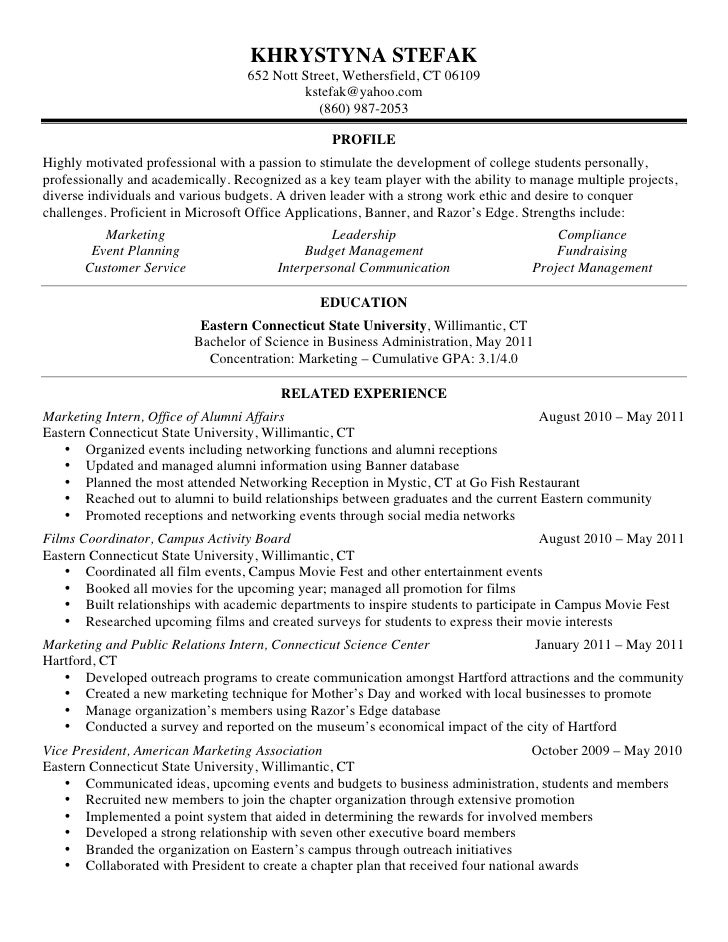 khrystyna stefak 652 nott - Outreach Worker Sample Resume