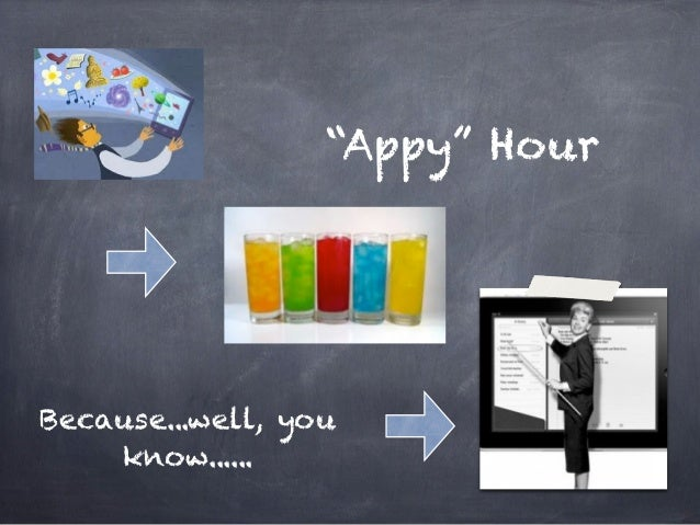 """Appy"" HourBecause...well, you    know......"