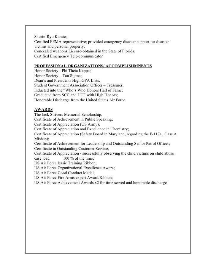 How To List Fema Certifications On Resume Professional User Manual