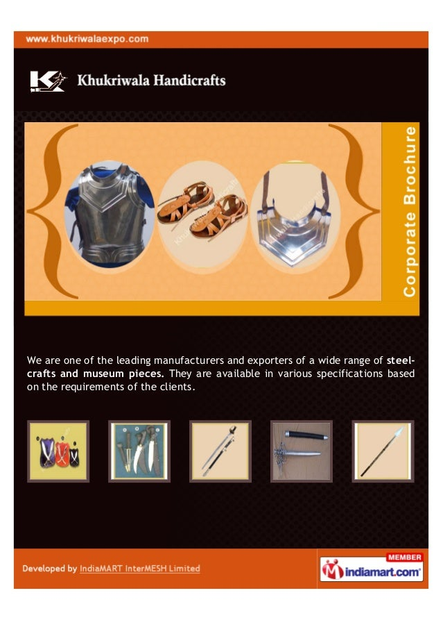 We are one of the leading manufacturers and exporters of a wide range of steel-crafts and museum pieces. They are availabl...