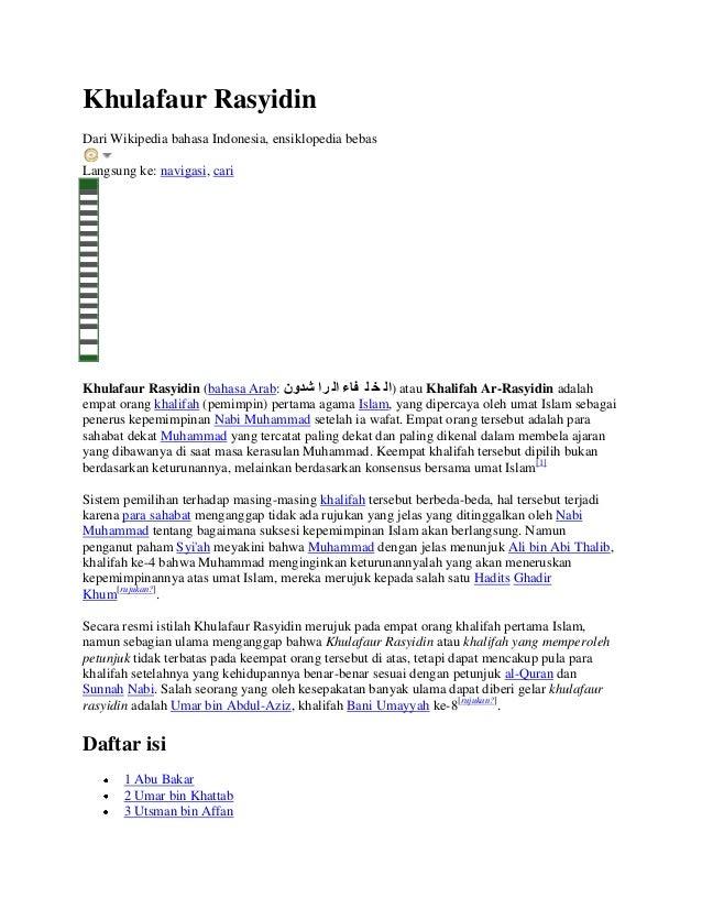 Khulafaur RasyidinDari Wikipedia bahasa Indonesia, ensiklopedia bebasLangsung ke: navigasi, cariKhulafaur Rasyidin (bahasa...
