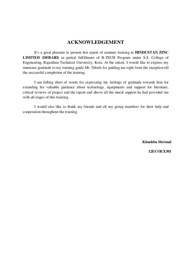 hindustan zinc limited debari limited summer internship report We also received the fii license in iifl inc iifl securities pte ltd received   hindustan zinc limited debari limited summer internship report.