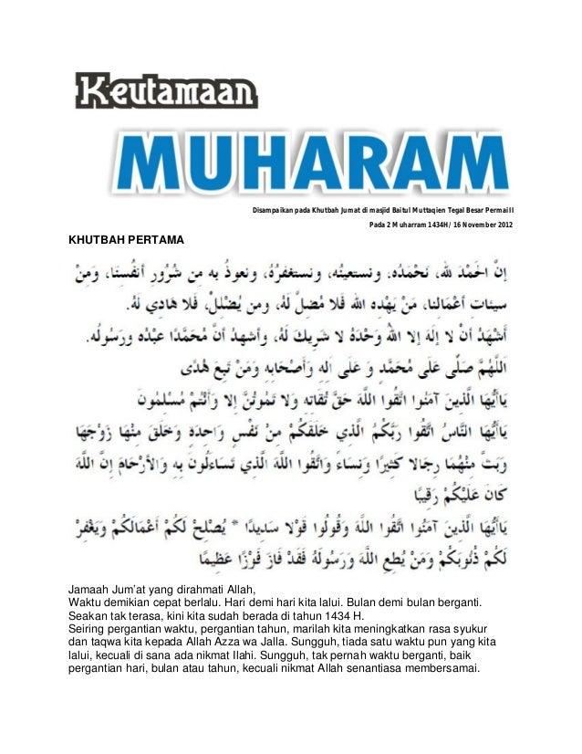 Khutbah Jumat Keutamaan Muharram