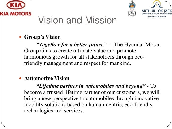 kia ForKia Motors Mission Statement