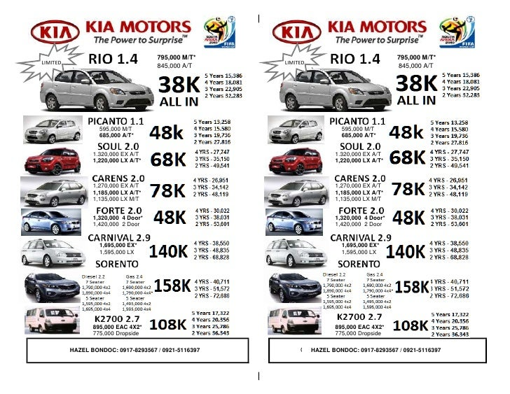 Kia Philippines Price List >> Kia Cars In Philippines Price List | Latest News Car