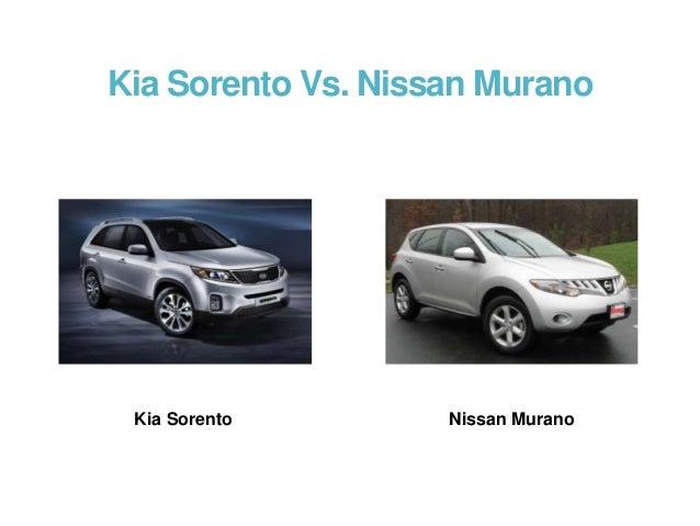 Nissan murano vs kia sorento