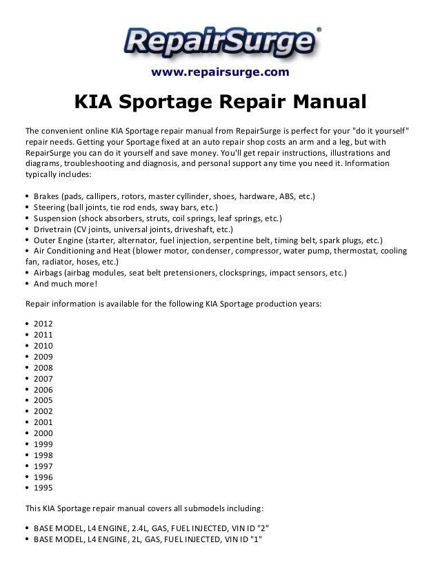 2002 Kia Sportage Engine Diagram - Wiring Diagram •