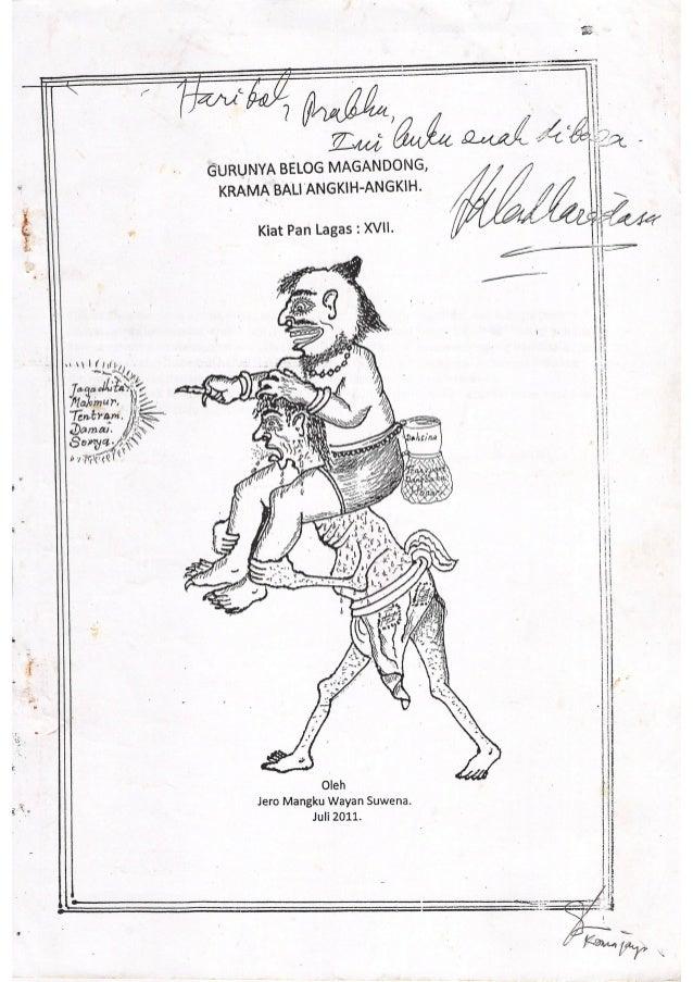 Kiat pan lagas   guru belog megandong krama bali angkih-angkih