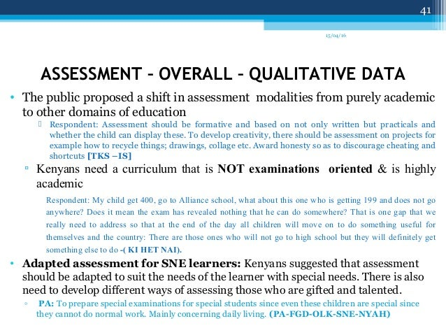 Kicd Curriculum Reform Needs Assessment Findings Report By Dr Juli