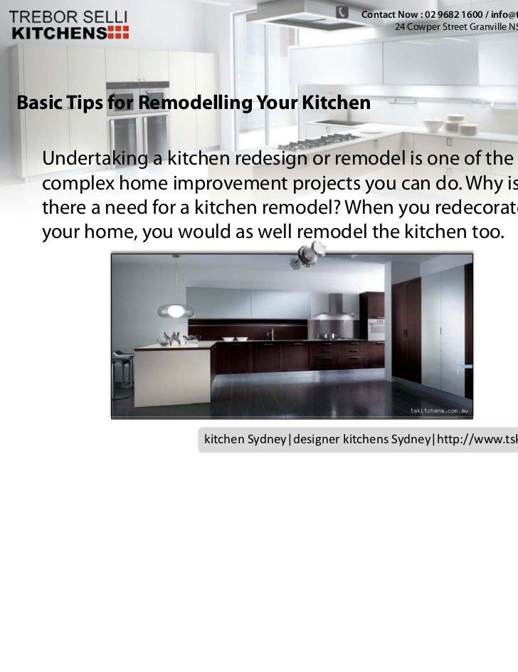 Kichen Cabinets Sydney -  Basic Tips for Remodelling Your Kitchen Slide 2