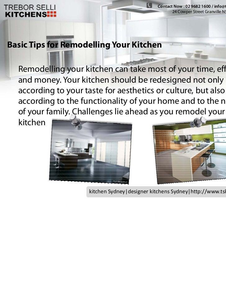 Kichen Cabinets Sydney -  Basic Tips for Remodelling Your Kitchen Slide 3
