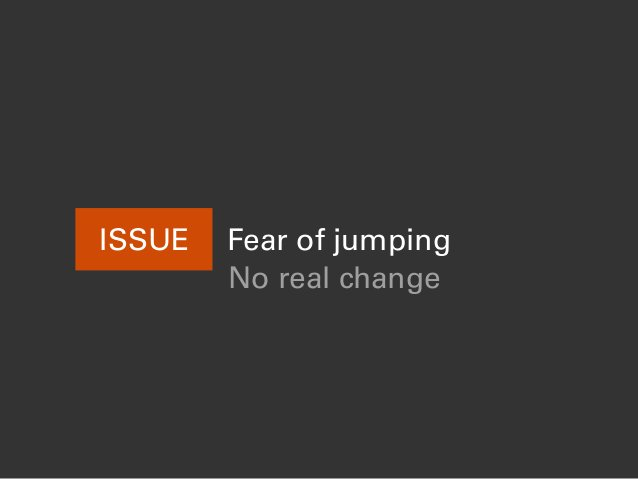 ISSUE Fear of jumping No real change