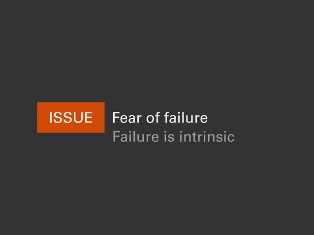 ISSUE Fear of failure Failure is intrinsic