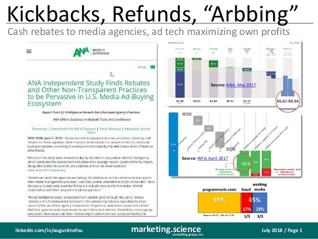 "July 2018 / Page 1marketing.scienceconsulting group, inc. linkedin.com/in/augustinefou Kickbacks, Refunds, ""Arbbing"" Cash ..."
