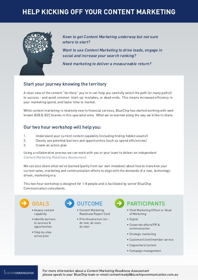 HELP KICKING OFF YOUR CONTENT MARKETING                             Keen to get Content Marketing underway but not sure   ...