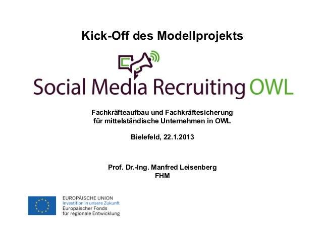 Kick-Off des ModellprojektsFachhochschule des Mittelstands (FHM)                                  Fachkräfteaufbau und Fac...