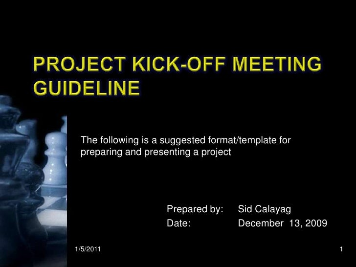Kick Off Meeting Presentation