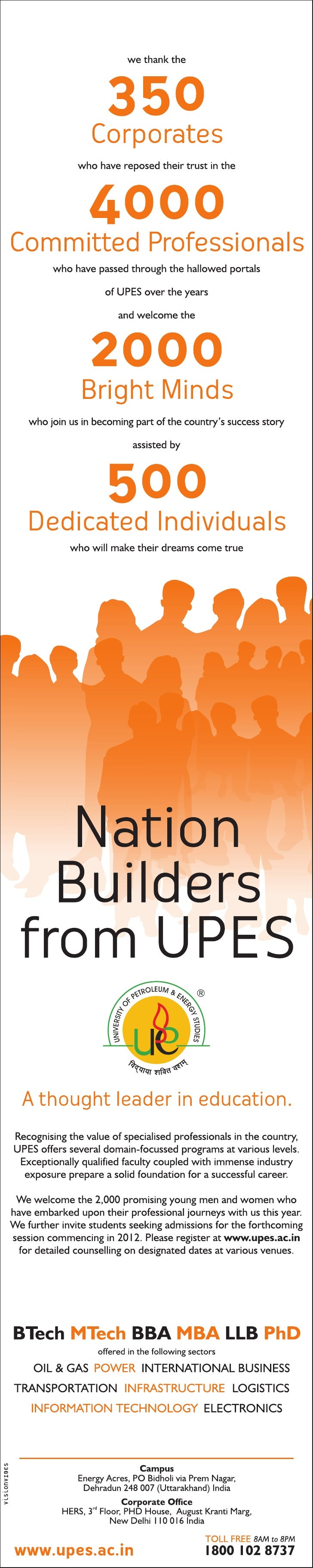 Nation Builders From UPES - Kick start 2012