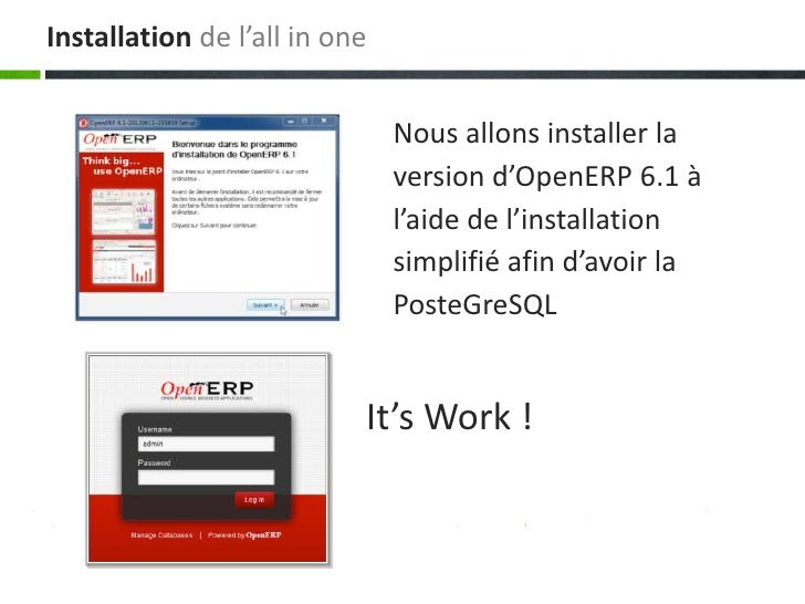Installation de l'all in one                               Nous allons installer la                               version ...