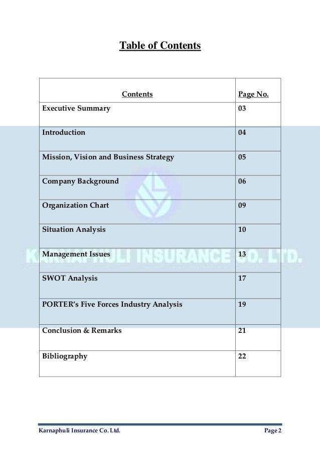 Organizational Management Report on Karnaphuli Insurance Co. Ltd. Slide 3