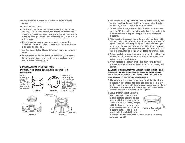 smoke alarm instruction manual product user guide instruction