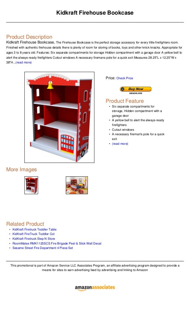 OooooKidkraft Firehouse BookcaseProduct DescriptionKidkraft Bookcase The Is