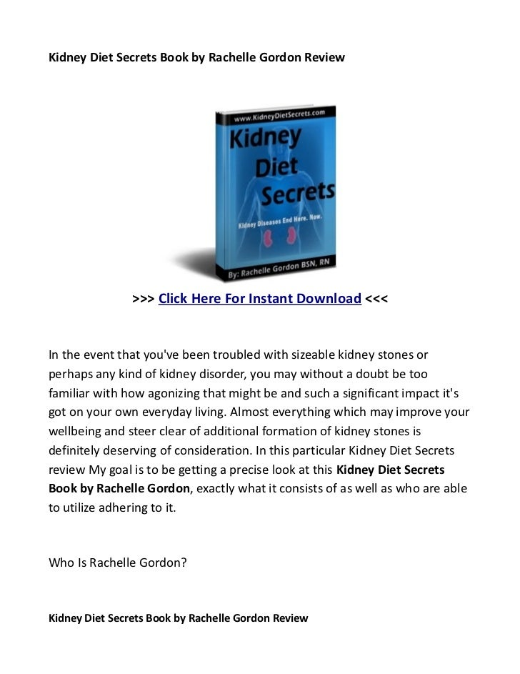 Search for information about kidney diet secrets review here to treat kidney disease effectively!
