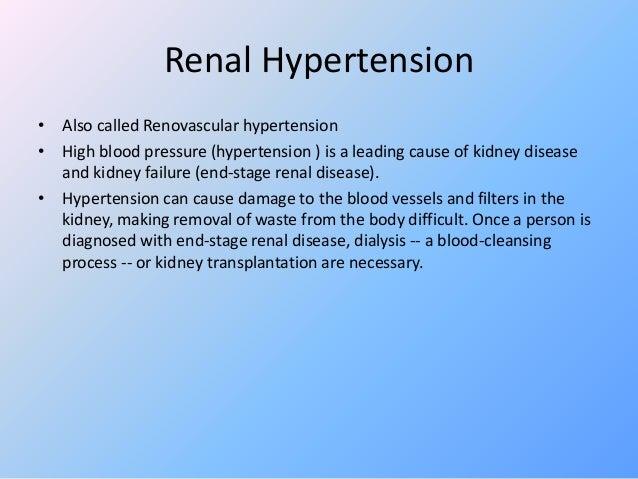Kidney Failure In Hypertension