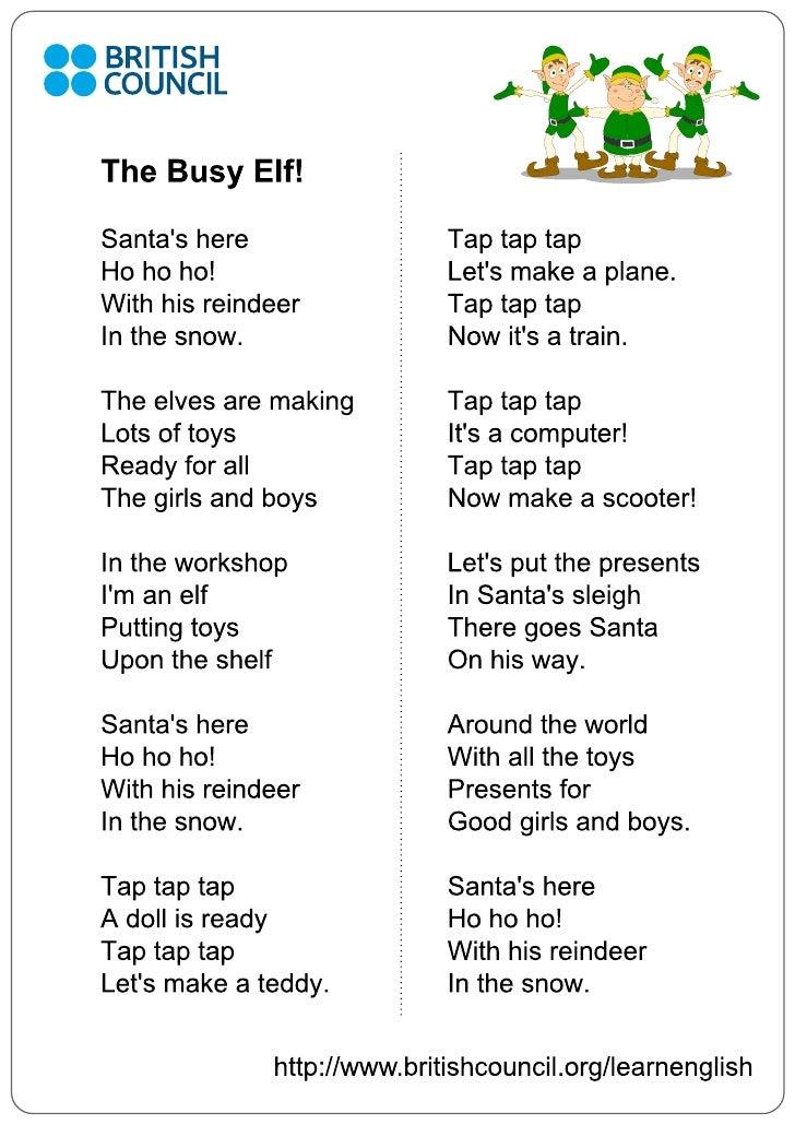 Kids Songs Busy Elf Lyrics 1