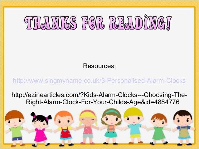 Kids alarm clocks- choosing the right alarm clock for your ...