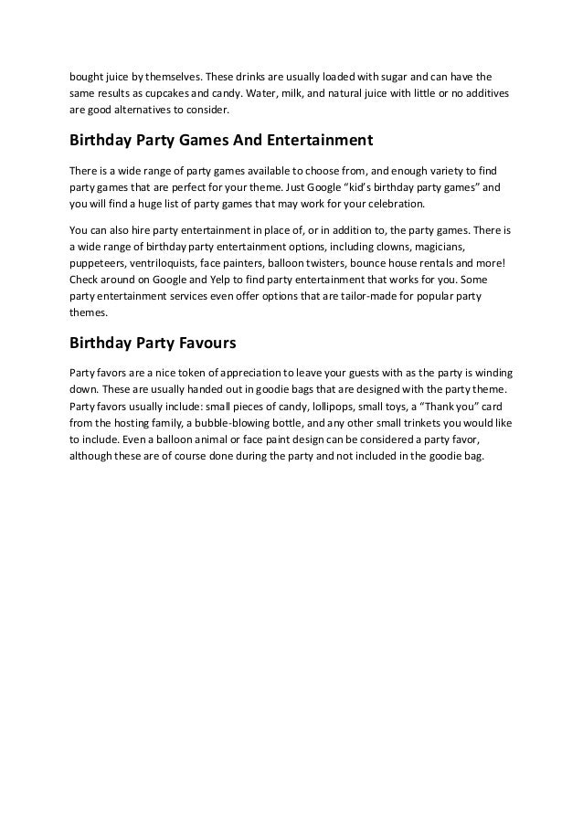 Kids birthday party checklist based on our nearly 20 years of experie