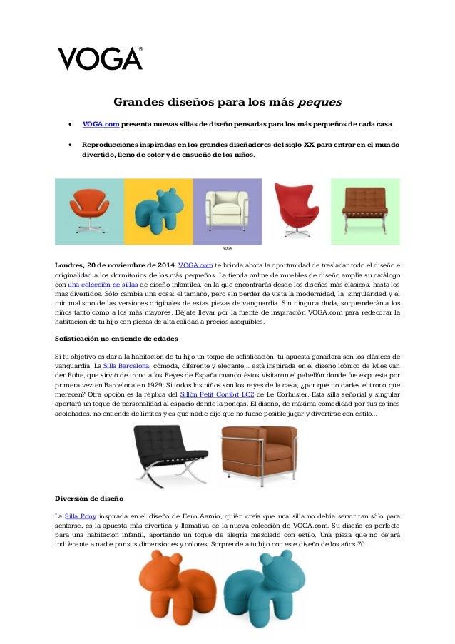 nota de prensa - muebles de diseño para niños - Replicas De Muebles De Diseno