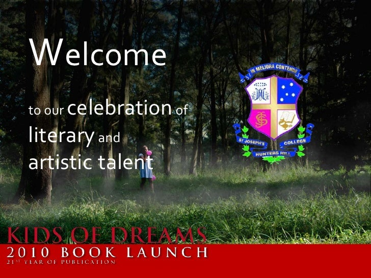 Welcome<br />to our celebration of literary and <br />artistictalent<br />