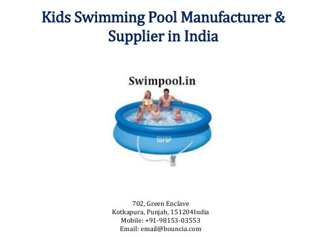 Kids swimming pool manufacturer supplier in india for Swimming pool manufacturers