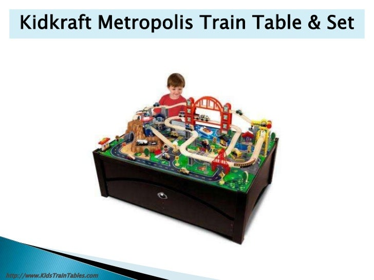 KidsTrainTables.com; 16. Kidkraft Metropolis Train Table ...