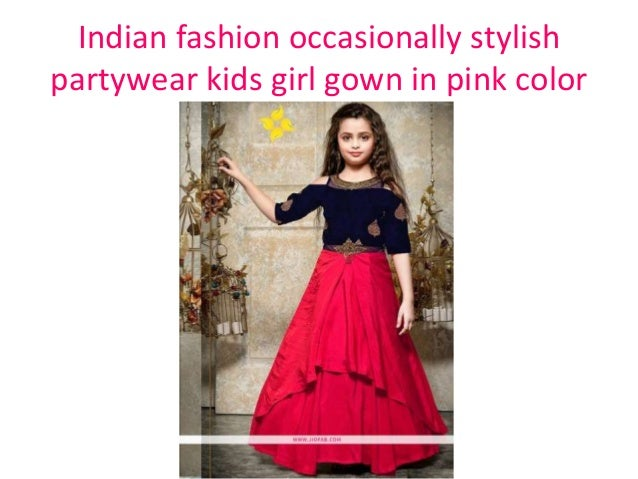 93618c80e Indian fashion occasionally stylish partywear kids girl gown in navy color   9. Indian fashion occasionally ...