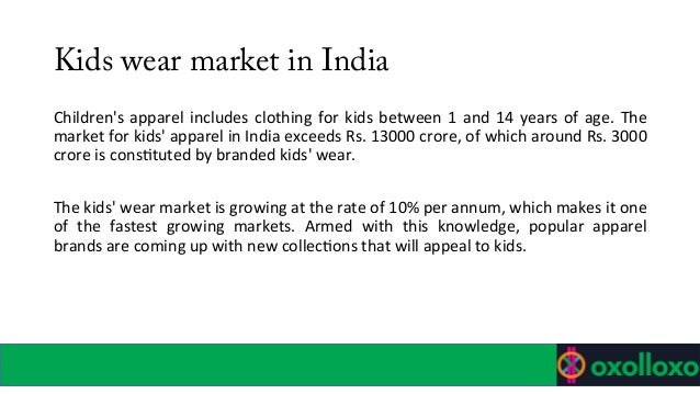 kidswear market in india 2018