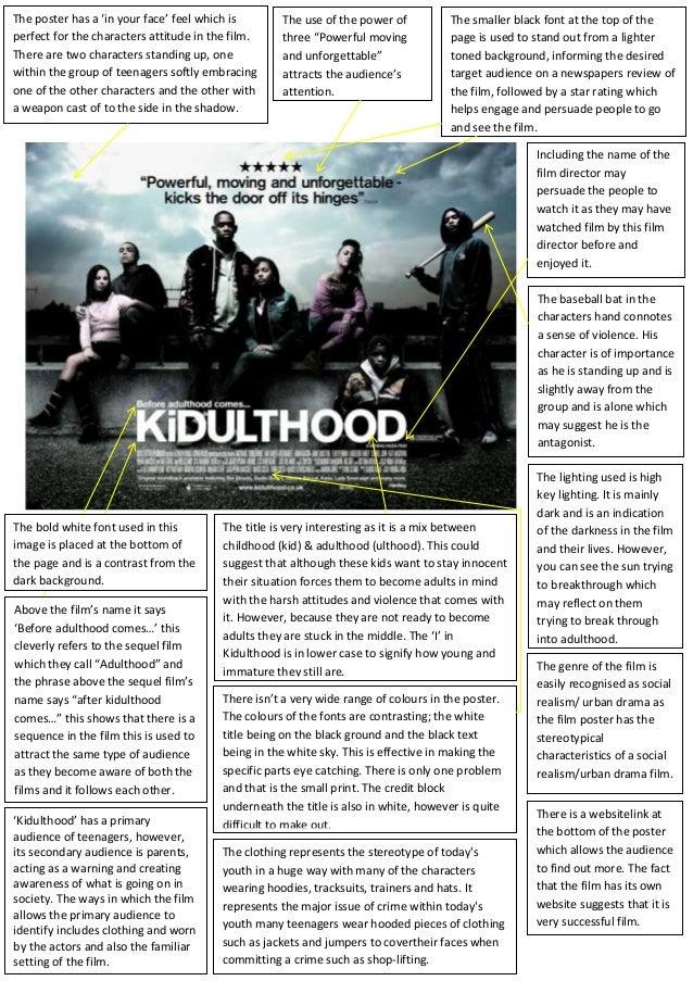 Kidulthood film poster analysis