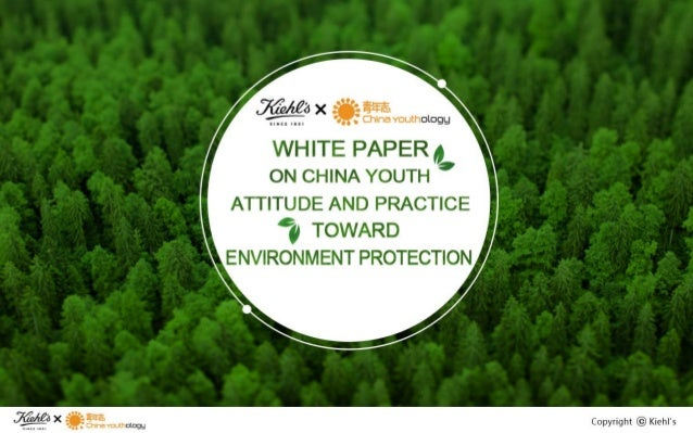 .ZfzA£ax axis.   ,  China vouthologg  WHITE PAPER 0 ON CHINA YOUTH '  ATTITUDE AND PRACTICE 'go TOWARD  ENVIRONMENT PROTEC...